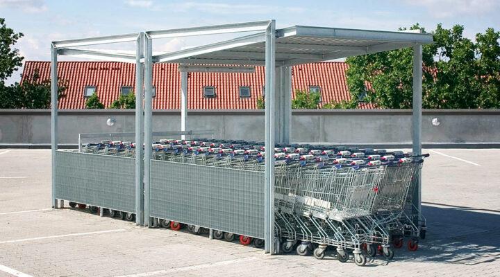 DURO Einkaufswagenüberdachung